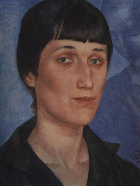 Kuzma_Petrov-Vodkin__Portrait_of_Anna_Akhmatova__1922